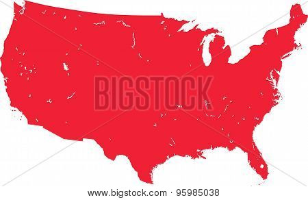 Map Of The Usa.