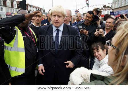 London Mayor Boris Johnson At The Reopening Of Gants Hill Roundabout In Gants Hill In London 1 Octob