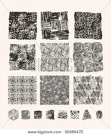 Lino cut textures