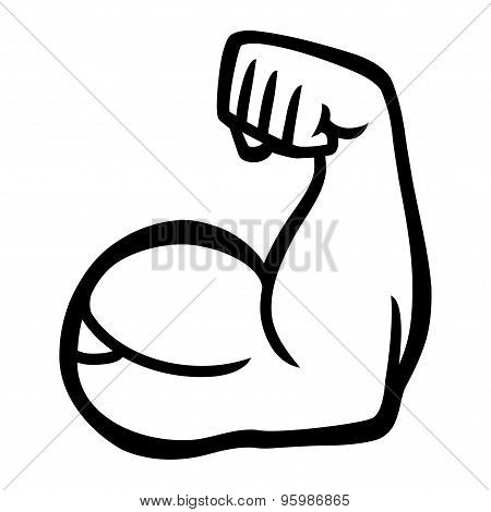 biceps flex arm vector icon vector & photo | bigstock