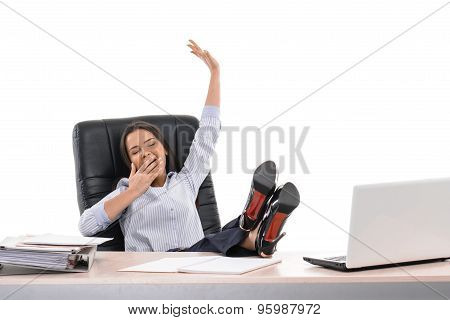 Concept for businesswoman isolated on white