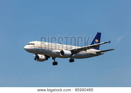 Airbus A320 Aircraft Of Saudi Arabian Airlines
