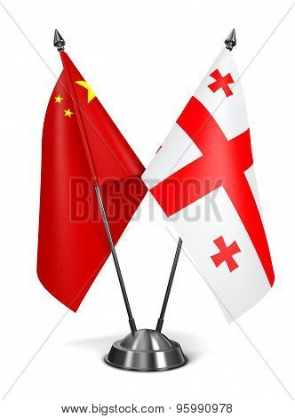 China and Georgia - Miniature Flags.