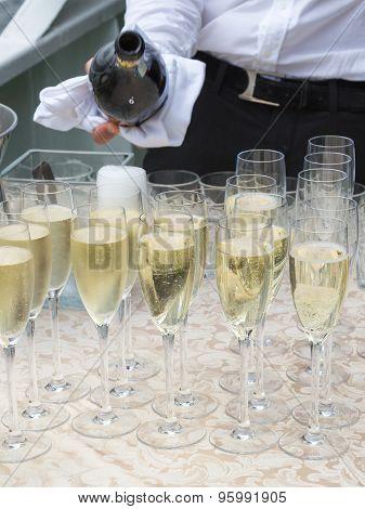 Champagne In Glass Glasses
