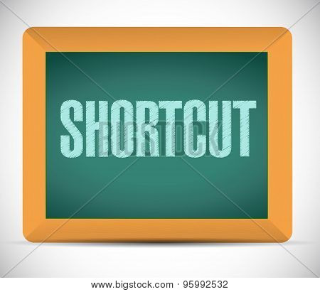 Shortcut Chalkboard Sign Concept