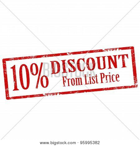 Discount From List Price