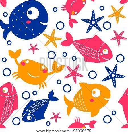 seamless pattern from sea vector elements