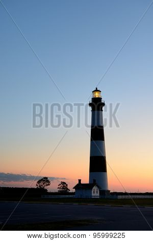 Bodie Lighthouse on the Outer Banks at Sunrise