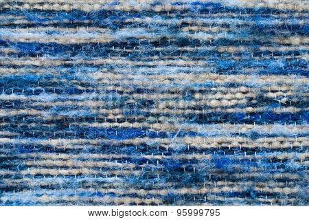 Blue Wool Surface -  Close Up Of Textured Background