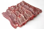 picture of veal meat  - sliced veal chop - JPG