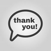 foto of thankful  - The thank you icon - JPG