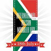 image of nelson mandela  - Creative a beautiful greeting card for International Nelson Mandela Day - JPG