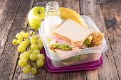 image of lunch  - lunch box - JPG