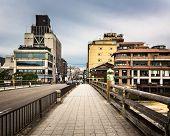 foto of dory  - Sanjo Ohashi Bridge in the Morning Kyoto Japan - JPG