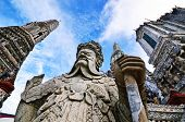 foto of guardian  - The stone guardian of the temple looks fearful - JPG