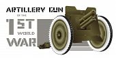 picture of artillery  - Drawing artillery gun of World War I on a white background - JPG