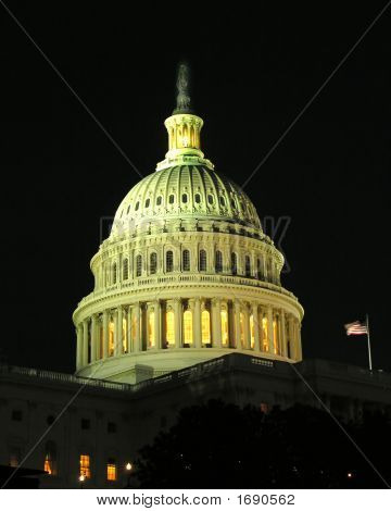 Us Capitol By Night (Washington D.C.)