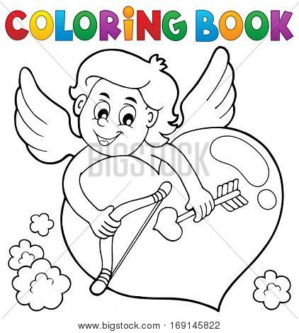 Coloring book Cupid topic 2 - eps10 vector illustration.
