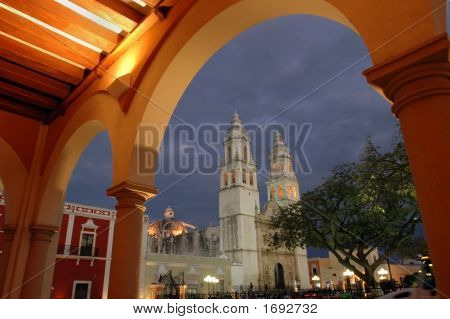 Cathedral In Campeche, Mex.