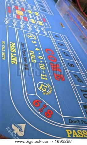 Blue Craps Table
