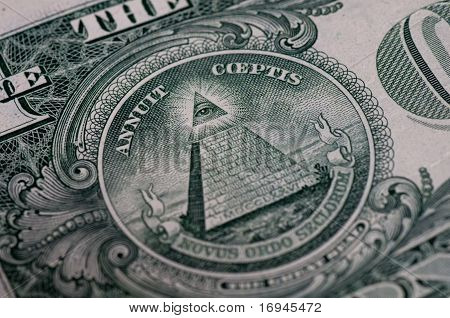 Symbol On One Dollar