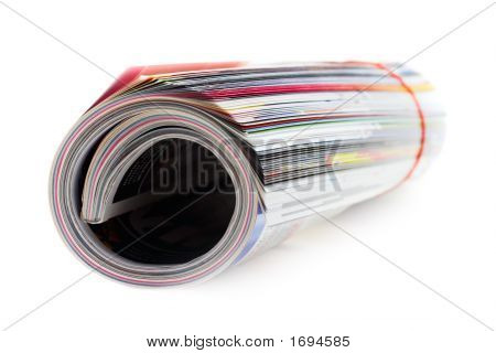 Magazine Roll (Isolated On White)