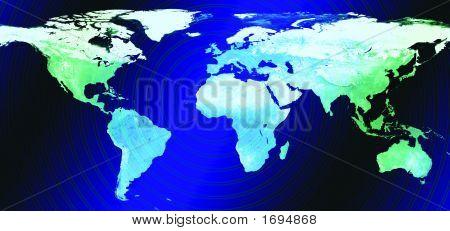 Planet Erde Weltkarte # 1