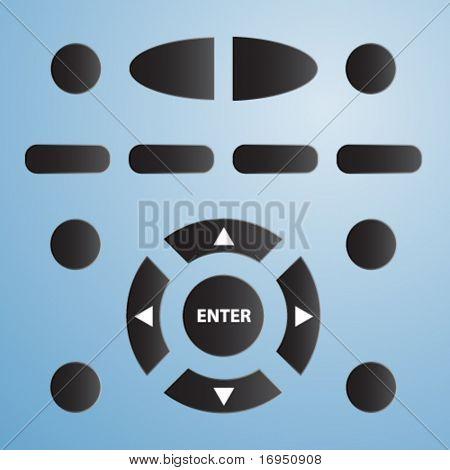 Vector control remoto para tv