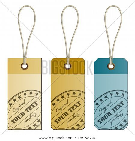 "vector ""original"" cardboard tags"