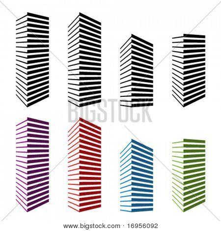 Vektor-Wolkenkratzer-Symbole