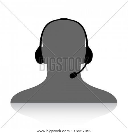 vector phone support silhouette