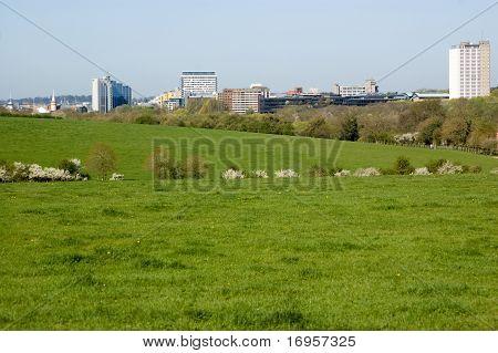 Basingstoke skyline, springtime