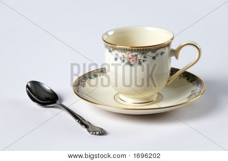 Saucer, Cup And Spoon