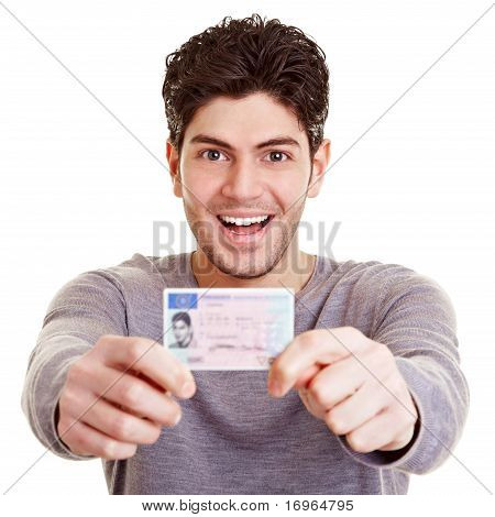Young Man With Drivers License