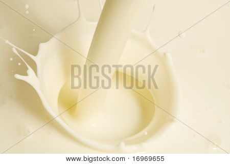 Creamy liquid being poured