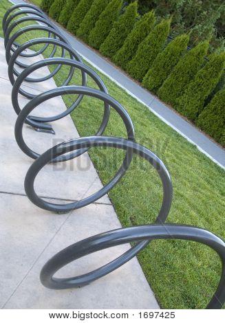 Corkscrewed Bike Rack