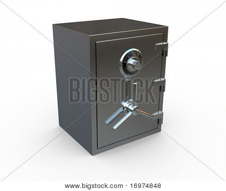 Render of Safe isolated on white