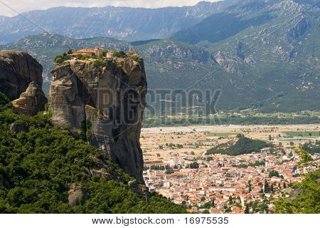 Meteora monastery and city of Kalambaka