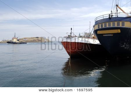 Halifax Harbor, Moored Boats
