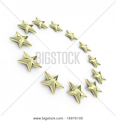 Golden european 3d stars