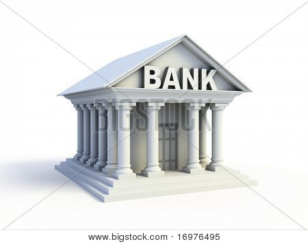 Bank 3d icon