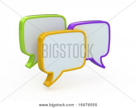 Speech or chat icon 3d
