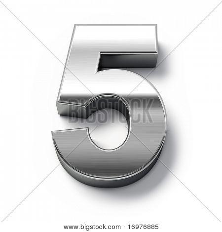 3d Metal numbers - number 5