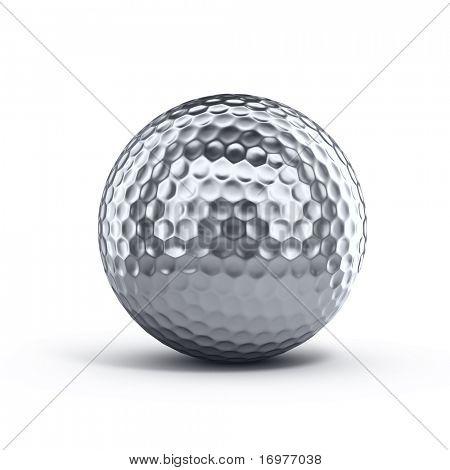 Bola de prata de golfe