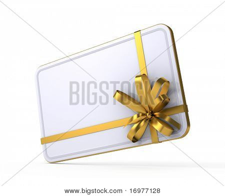 Gift card with empty space for you text
