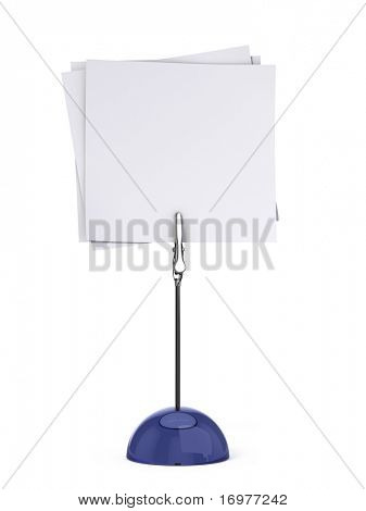 Card holder isolated on white