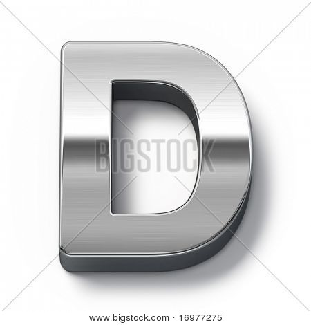 Metal alphabet symbol - d