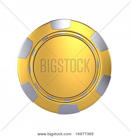 Golden casino chip