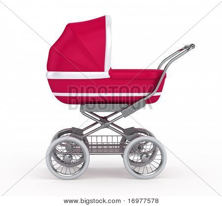 Baby Carriage on white background