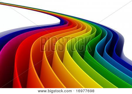 3d colorful lines
